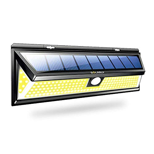 SOLARLY - Lampe Solaire Murale Extérieure à Détecteur de Mouvement - Éclairage de 180 LED Puissant et Lumineux - Facile à Installer - Design Discret - Nouvelle Édition 2019