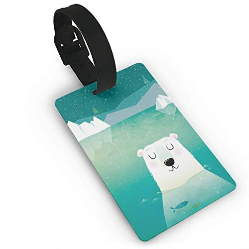 Polar Bear Daydream Delicate Printing ID Label Travel Luggage Tags Suitcase Baggage Handbag -