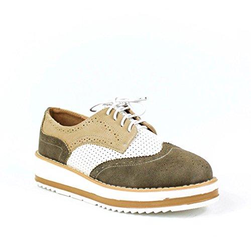 Buonarotti , Chaussures de ville à lacets pour femme Vert