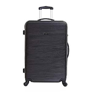 Karabar Extra Large Hard Sided Suitcase - 10 Years Warranty! (Black ABS)