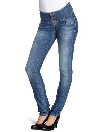 Salsa - Jeans slim, donna, Blu (Blau (EBCF)), 38/40 IT (25W/34L)