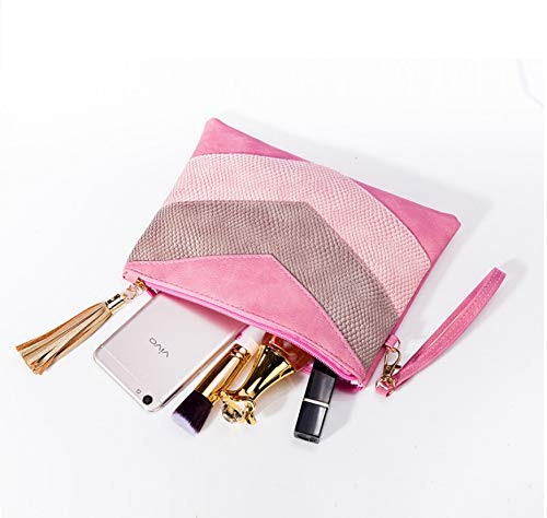 Kosmetiktasche Mode Quaste Damen Hand Reisen Schlangenhaut Nähen Handtasche Abendtasche Aufbewahrungstasche