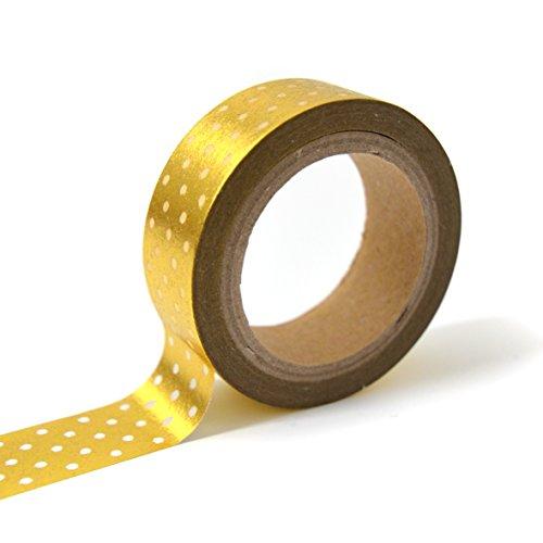Unbekannt Toga MT105Washi Tape Punkte Washi Tape Gold/weiß 4x 9x 5cm