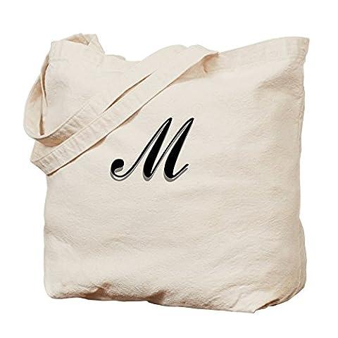 CafePress–Buchstabe M Monogramm–Leinwand Natur Tasche, Reinigungstuch Einkaufstasche