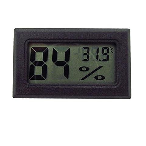 Sanwood® Mini Digital LCD Température Intérieure humidité Mètre Thermomètre hygromètre Gauge, PVC, noir, Taille unique