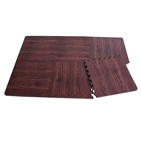 KKCF Imitación madera espesamiento burbuja alfombra almohadilla, esterillas de bebé, sala de estar, los niños de arrastre alfombra, 60 * 60 cm Antideslizante ( Color : A , Tamaño : 60*60cm )