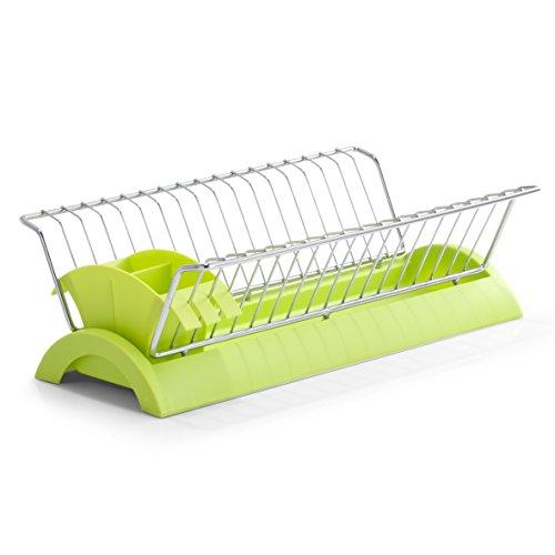 Zeller 24883 Geschirrabtropfständer, Metall/Kunststoff, grün, ca. 41,5 x 24 x 12 cm Metal Plate Rack