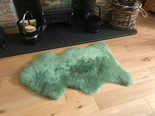 Super Soft Hand fertiggestellt ca. British Schaffell Teppich in Sage Grün von Lambland-100cm x 70cm (Salbei Grün-teppich)