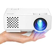 DBPOWER Mini proyector, 2000 Lumen Proyector LED de Video HD 1080P con Pantalla de 176