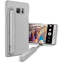 URCOVER Custodia Bastone Selfie Stick VRS Design per Apple iPhone 7 Plus | Cover per Foto con Asta Telescopica Integrata in Grigio