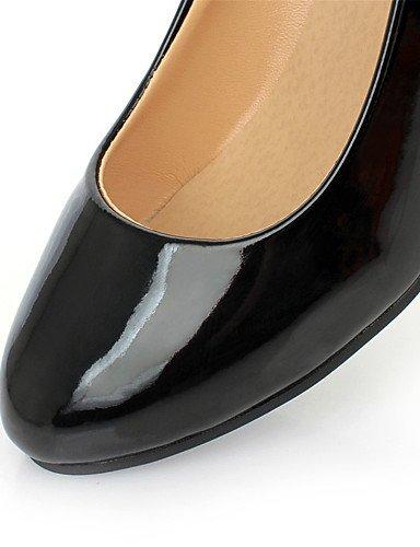 WSS 2016 Chaussures Femme-Mariage / Habillé / Décontracté / Soirée & Evénement-Noir / Blanc-Talon Compensé-Compensées-Chaussures à Talons- black-us8 / eu39 / uk6 / cn39