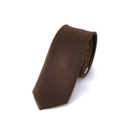 DonDon Schmale braune handgefertigte Krawatte 5 cm // verschiedene Farben wählbar