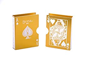 Alloy Metal Magic Prop Cards Guard Bicycle Card Clip Playing Card Case Holder For Poker Deck Protector Gold