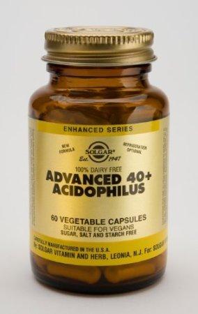 Solgar Advanced 40+ Acidophilus (Non-Dairy) Vegetable Capsules - 60 caps