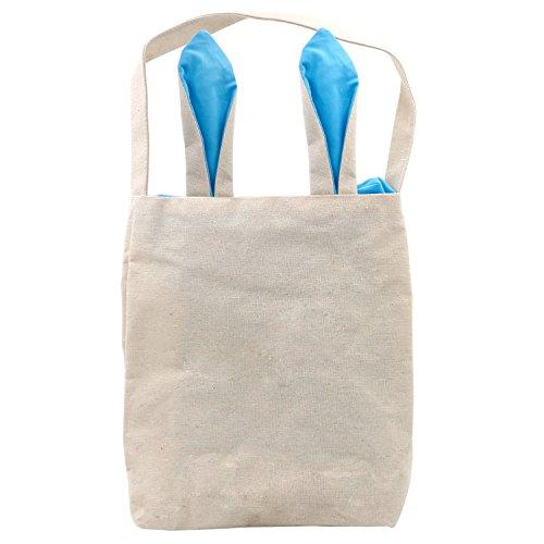 Trixes Blaue Leinentasche mit Osterhasen Ohren Hase Ohren Ostern Segeltuch Tragetasche Party - Einkaufstaschen - Trix Kaninchen