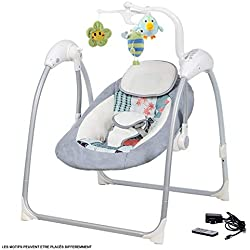 Balancelle transat électrique bébé Lilou 3 Bebe2luxe