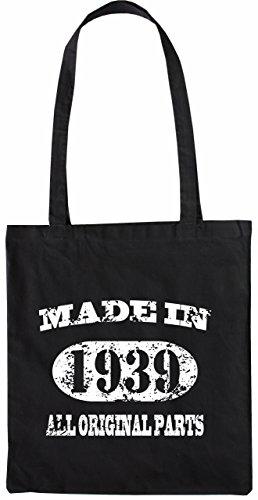 Mister Merchandise Tasche Made in 1939 All Original Parts 76 77 Stofftasche , Farbe: Schwarz Schwarz