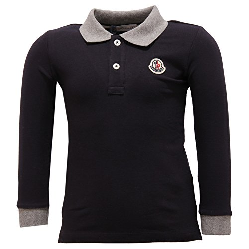 087e0a7aa7 MONCLER 2428V Polo Bimbo Maglia Blue Polo t-Shirt Long Sleeve Kid [9/12  Months]