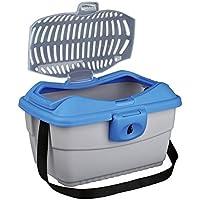 Trixie 3980 Mini-Capri Transportbox, 40 × 22 × 30 cm, hellgrau/blau
