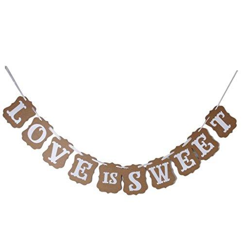 naisecore Hochzeit Western Party Dekoration Wimpelkette Girlande Banner Love is sweet