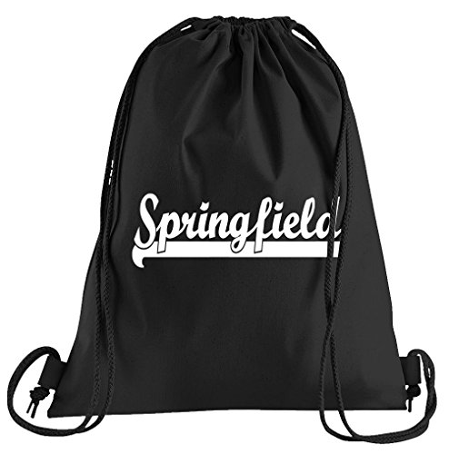 T-Shirt People Springfield Sportbeutel - Bedruckter Beutel - Eine schöne Sport-Tasche Beutel mit Kordeln (Halloween Marge Simpson)