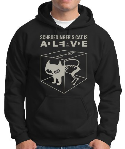 Touchlines Herren Kapuzen Pullover Schroedingers Cat Is Alive Hooded Sweatshirt, black/sil Preisvergleich
