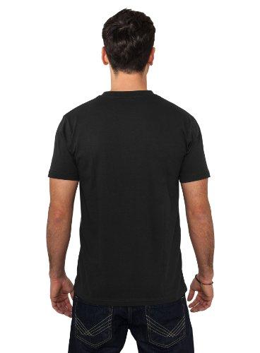 Urban Classics Herren T-Shirt Rundhals Zig Zag blk/gry/wh