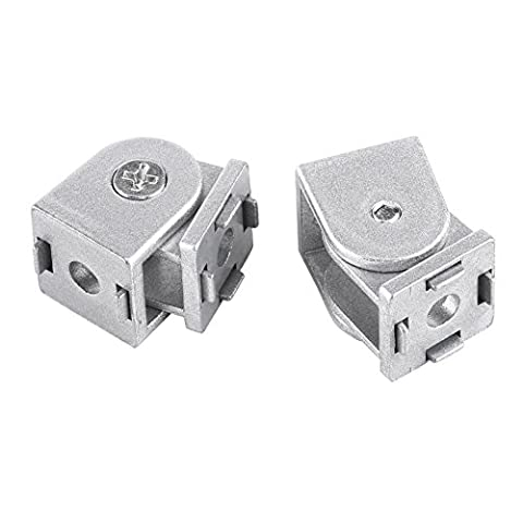 2pcs Adjustable Hinge Zinc Alloy Industrial Angle Connector 20×20mm 180