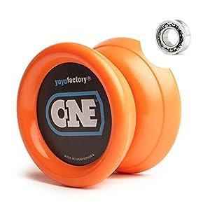 YoyoFactory One Yo-yo - Naranja (De Principiante a Profesional, Cuerda e Instrucciones Incluidas)