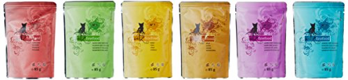 catz-finefood-Multipack-12-x-85g-Beutel-Feinkost-Katzenfutter-nass-verschiedene-Sorten-im-Mix-Paket