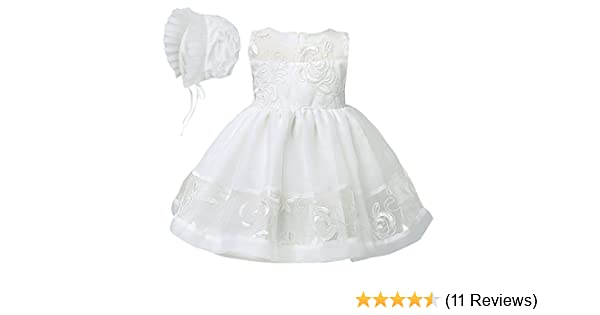 YiZYiF Baby Mädchen Kleid Taufkleid Gr. 62 68 80 86 92 Festlich ...