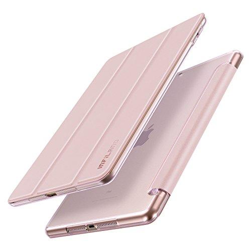 Infiland iPad 9,7 2018/2017 Hülle Case, Superleicht Transluzent mattierte Rückenschale Smart Schutzhülle mit Auto Schlaf/Wach Funktion für 9,7 Zoll iPad (6. Generation/ 5. Generation), Rosa Goldene