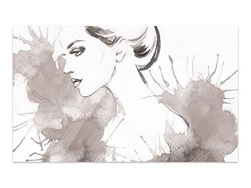 GRAZDesign Glas Bilder Frau, Bilder auf Glas Schwarz Weiß, Bilder Glas Schlafzimmer, Glasbilder Wohnzimmer / 100x60cm