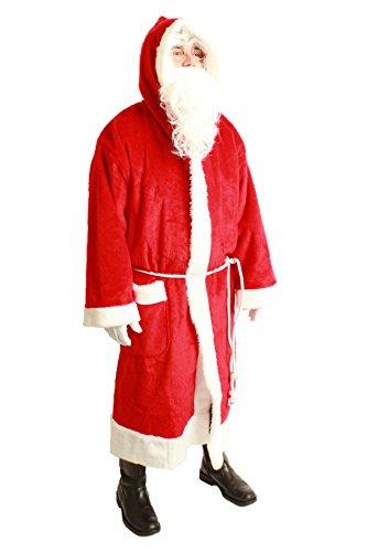 Nikolausmantel Plüsch Weihnachtsmann (Grinch Kostüme Für Kinder)