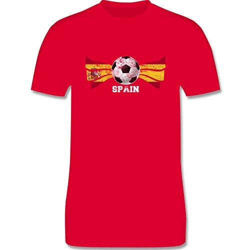 EM 2016 - Frankreich - Spain Fußball Vintage - Herren Premium T-Shirt Rot