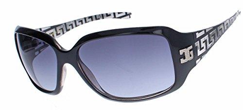 amashades Medusa Styles GIANNI MILANO klassische Damen Sonnenbrille gelaserter Rahmen Designer Look GV34 (Schwarz)