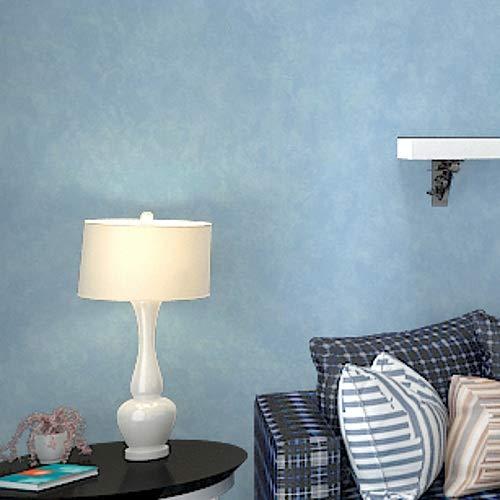 KYKDY Vintage Plain Solid Abstract Beton Zement Tapete Holzkohle Schwarz/Silber grau Wandpapierrolle Für Schlafzimmer Wohnzimmer Deko, C00707 Blau, China, 10m * 0,53m = 5,3 Quadratmeter