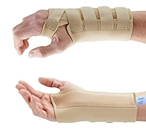 Actesso Beige Wrist Support Carpal Tunnel Splint Brace - Provides Pain Relief from Carpel Tunnel Syndrome, Sprains, Arthritis and Wrist Injury - Medically Approved - NHS Use