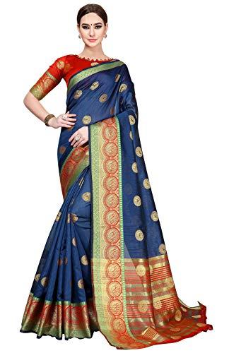 Soru Fashion Women's Banarasi Silk Jacquard ...