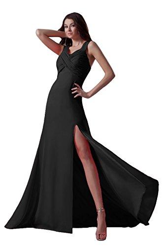 Bridal_Mall -  Vestito  - linea ad a - Senza maniche  - Donna Schwarze