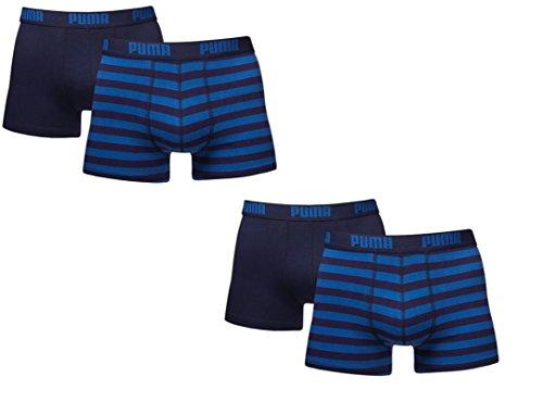 Puma Striped Herren Boxershorts Retroshorts im 2x2er Pack Blau (056)