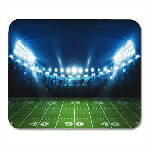 Luancrop Mauspads Green Activity American Football Arena Feld Bright Stadium Lights Mauspad für Notebooks, Desktop-Computer Matten Bürobedarf 9500 Desktop