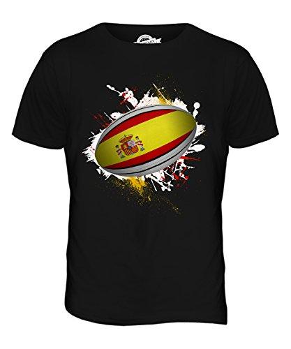 CandyMix Spanien Rugby Ball Herren T Shirt Schwarz