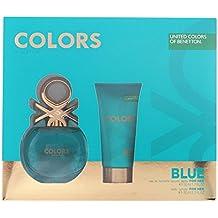 Benetton Colors Blue Set de Agua de Colonia y Loción Corporal ...