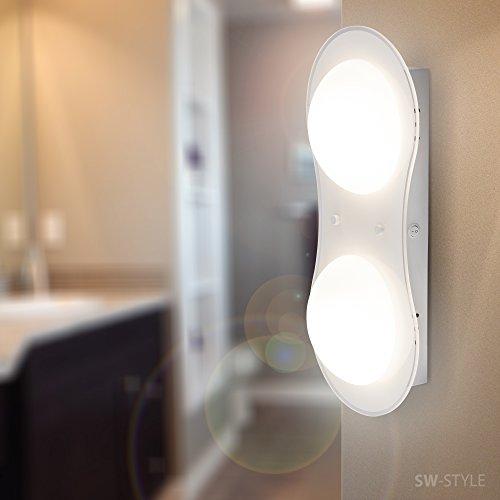 Moderne Design Wandleuchte Wandlampe 030-2WC GX53 Fassung Weiß