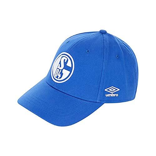 Umbro FC Schalke 04 Königsblau Cap S04 Fan Basecap Fußball Kappe Mütze Knappen, Größe:OSFA (Adult) -