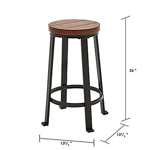 24-Zoll-Antique Wooden Counter Barhocker Größe: Länge (cm) 34 Höhe (cm) 61 * Breite (cm) 34 Für Die Küche - Counter-höhe 24