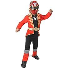 Deluxe Red Súper Megaforce Power Ranger - Childrens Disfraz - Medium - 116cm