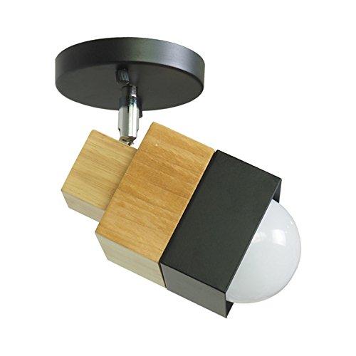 te Creative Balkon Gänge Valentine Schlafzimmer Wohnzimmer Massivholz Eisen Schlafzimmer Wandleuchte Verstellbare Lampe Kopf (Machen Minecraft Kopf)
