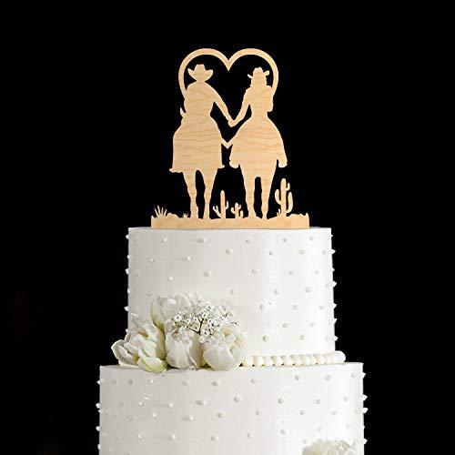 Kuchen-Dekoration für Hochzeitskuchen, Cowboy-Motiv, Kuchen-Dekoration für Hochzeit, Hochzeit, Tortenaufsatz
